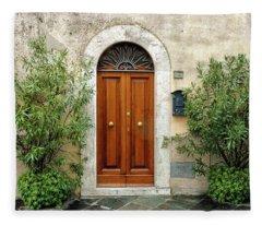 Tuscan Door Fleece Blanket
