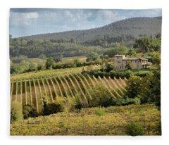 Tuscan Valley Fleece Blanket