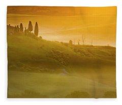 Tuscany In Gold Fleece Blanket
