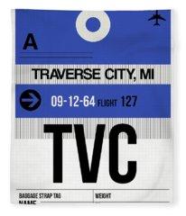 Tvc Traverse City Luggage Tag I Fleece Blanket