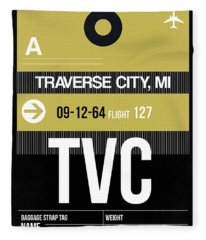 Tvc Traverse City Luggage Tag II Fleece Blanket