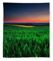 Twilight Fields Fleece Blanket