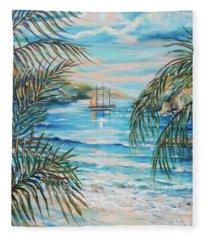 Twilight Sail Fleece Blanket