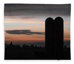 Twilight Silos Fleece Blanket