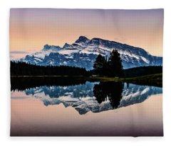 Twilight, Two Jack Lake Fleece Blanket