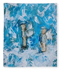 Twin Boy Angels Fleece Blanket