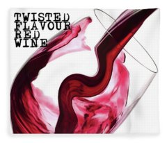 Twisted Flavour Red Wine Fleece Blanket