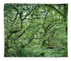 Twisted Forest Full Color Fleece Blanket