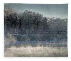 Two Cent Bridge At -5f Fleece Blanket