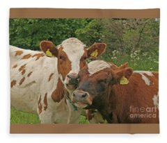 Two Cows Fleece Blanket