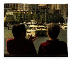 Two Friends At The Vancouver Bay Fleece Blanket