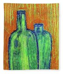 Two Green Bottles Fleece Blanket