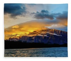 Two Jack Lake, Banff National Park, Alberta, Canada Fleece Blanket