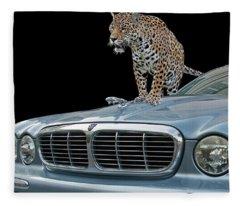 Two Jaguars 1 Fleece Blanket