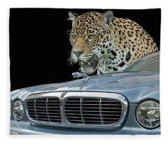 Two Jaguars 2 Fleece Blanket