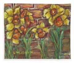 Two Toned Daffodils Fleece Blanket
