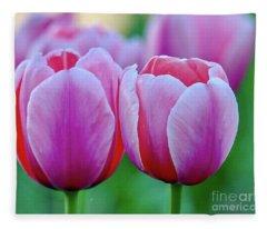 Two Tulips Fleece Blanket