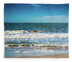 Tybee Tides Fleece Blanket