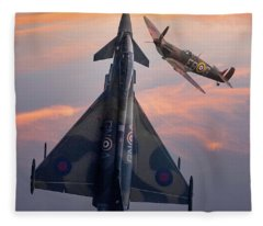 Typhoon And Spitfire Synchro-pair Display Team Fleece Blanket