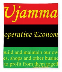 Ujamma Cooperative Economics Fleece Blanket