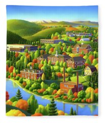 University Of Maine Fleece Blanket