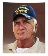 Uncle Poppy By Spano Fleece Blanket
