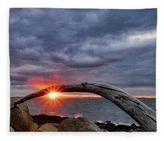 Under The Arch, Sunset Fleece Blanket