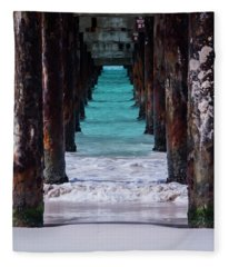 Under The Pier #3 Opf Fleece Blanket