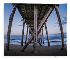 Fleece Blanket featuring the photograph Under The Pier by Steve Stanger