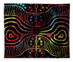 Under The Sea Digital Patterns Of Life Fleece Blanket