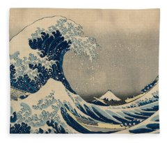 Under The Wave Off Kanagawa, Also Known As The Great Wave Fleece Blanket
