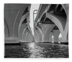 Under The Woodrow Wilson Bridge Fleece Blanket