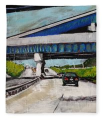 Underpass Z Fleece Blanket