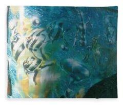Underwater Fishes Fleece Blanket