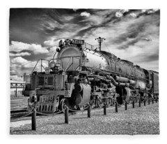 Union Pacific 4-8-8-4 Big Boy Fleece Blanket
