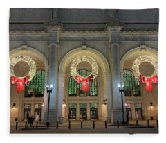 Union Station Holiday Fleece Blanket