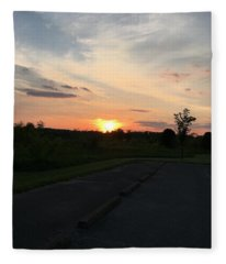 Union Sunset  Fleece Blanket