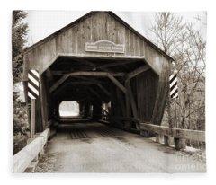 Union Village Covered Bridge Fleece Blanket