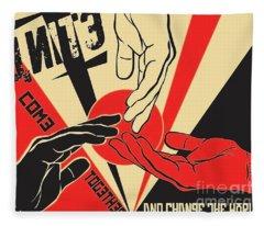 Unite And Change The World Fleece Blanket