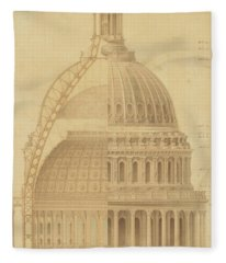 United States Capitol, Section Of Dome, 1855 Fleece Blanket