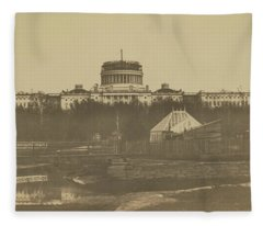 United States Capitol Under Construction Fleece Blanket