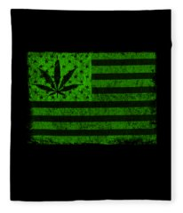 United States Of Cannabis Fleece Blanket