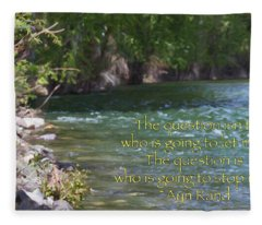 Unstoppable - Motivational Water Art By Omaste Witkowski Fleece Blanket
