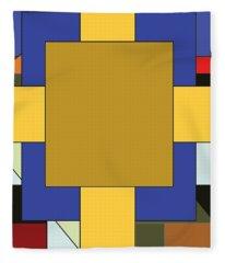 Untitled, 2019, Mixed Media Fleece Blanket