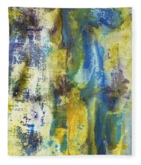 Fleece Blanket featuring the painting Untitled3 by 'REA' Gallery