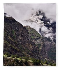 Fleece Blanket featuring the photograph Up In The Clouds by Whitney Goodey