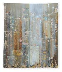 Urban Reflections I Day Version Fleece Blanket