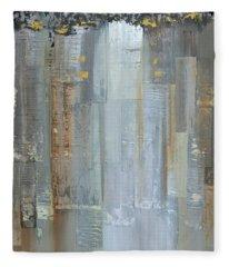 Urban Reflections II Night Version Fleece Blanket