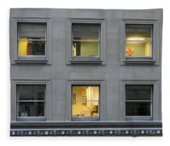 Urban Windows Fleece Blanket