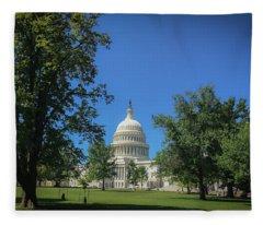 Us Capitol Fleece Blanket